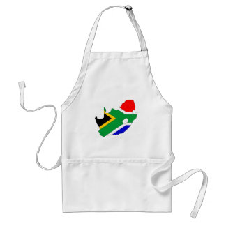 South Africa Flag Map full size Standard Apron
