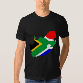 South Africa Flag Map full size Tee Shirt