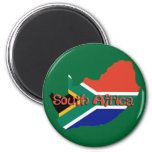 South Africa theme 6 Cm Round Magnet