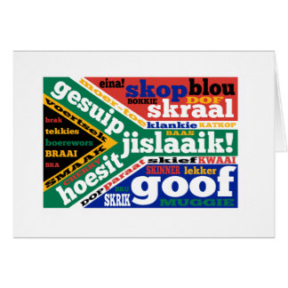South African slang and colloquialisms Greeting Card