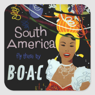 South America ~ Fly There Square Sticker