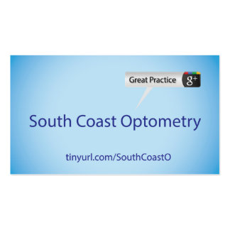 South Coast Optometry Pack Of Standard Business Cards