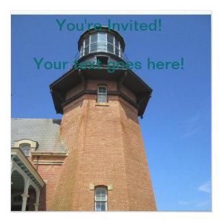 Southeast Lighthouse Tower Block Island 13 Cm X 13 Cm Square Invitation Card
