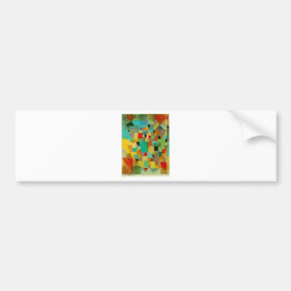Southern (Tunisian) gardens by Paul Klee Bumper Sticker