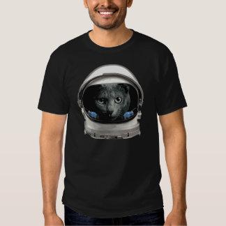 Space Helmet Astronaut Cat Tee Shirts