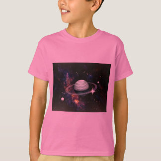 Space, Saturn Rings & Moons T Shirt