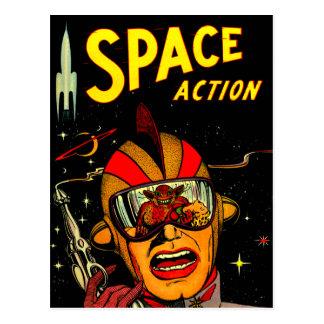 Spaceman Sci-Fi Astronaut Comic Art Postcard