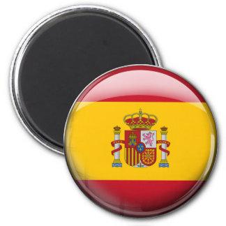 Spain Flag 6 Cm Round Magnet