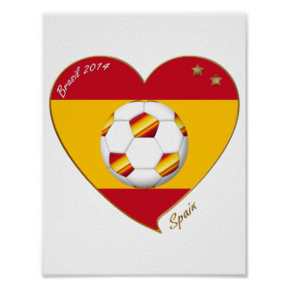 """SPAIN"" Spanish FOOTBALL Soccer Team SPAIN SOCCER Poster"