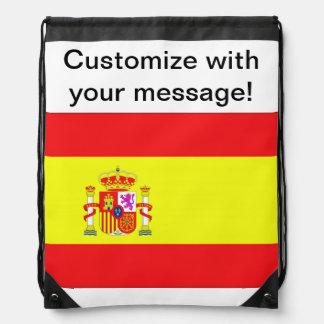 Spanish Flag Drawstring Backpacks