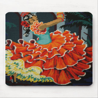 Spanish Flamenco Dancer Mouse Pad