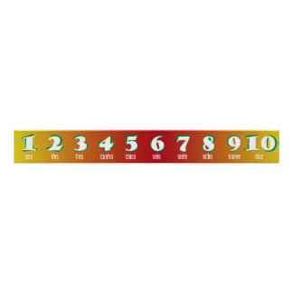 Spanish Numbers 1-10 Banner Poster