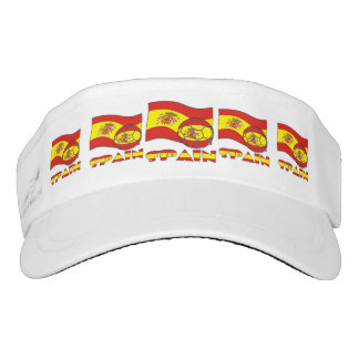 Spanish Soccer Ball and Flag Visor