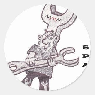 Spanners Round Sticker
