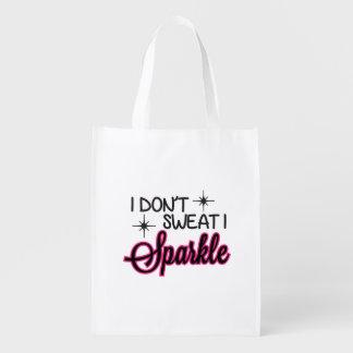Sparkle Sweat Funny Reusable Bag