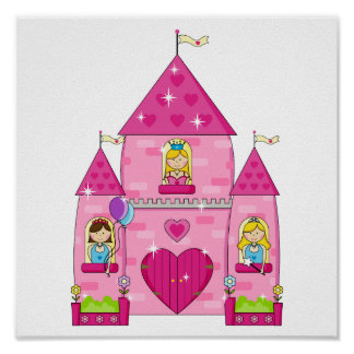 Sparkling Pink Enchanted Palace Poster