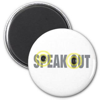 speakout 6 cm round magnet