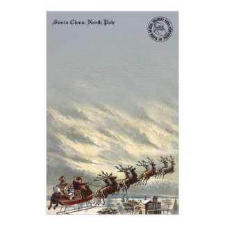 Special Delivery from North Pole by Sleigh Personalized Stationery
