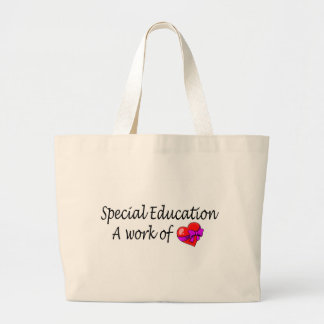 Special Education,A Work Of Love Jumbo Tote Bag