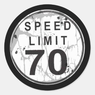 Speed Limit 70 MPH Grungy Sticker