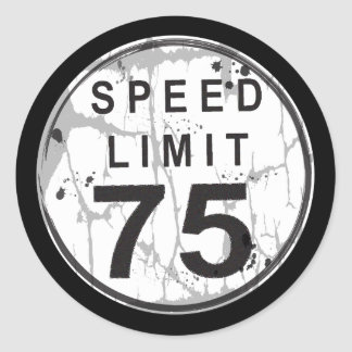 Speed Limit 75 MPH Grungy Sticker