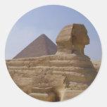 sphinx pyramid round sticker
