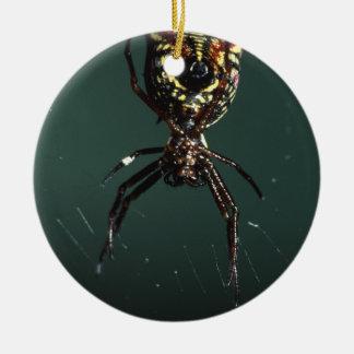 spider round ceramic decoration