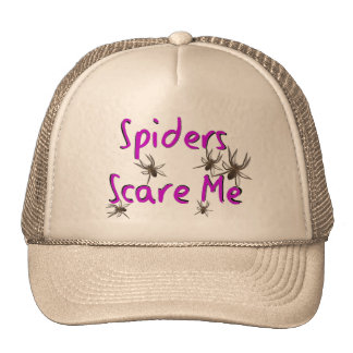 """Spiders Scare Me"" T-shirts and Gifts Cap"