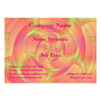 Spinning Horns in Pink and Yellow Pack Of Chubby Business Cards