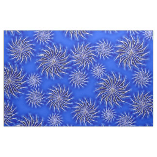 Spinning stars energetic pattern dark blue fabric