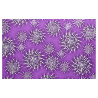 Spinning stars energetic pattern purple fabric