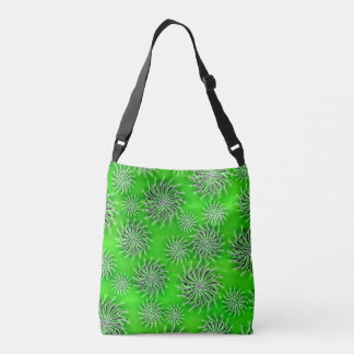 Spinning stars energetic spring pattern green tote tote bag