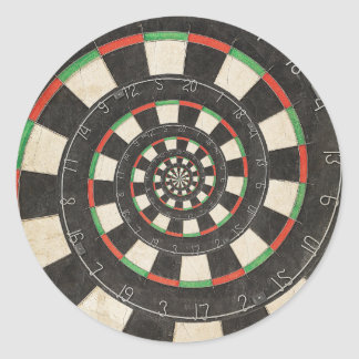 Spiral Dart Board Droste Effect Sticker