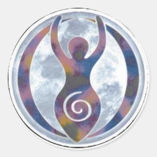 Spiral Goddess Window-Sticker Round Sticker
