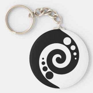 Spiral Of Life Basic Round Button Key Ring