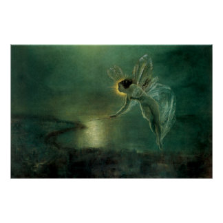 Spirit of the Night by Grimshaw, Victorian Fairy Poster
