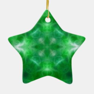 Spiritual growth and health ceramic star decoration
