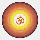 Spiritual Om Design Round Sticker