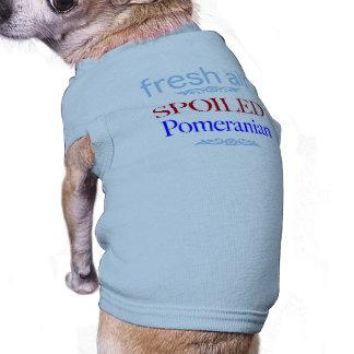 spoiled Pomeranian Sleeveless Dog Shirt