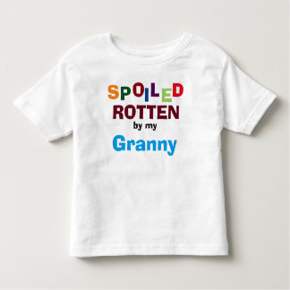 Spoiled Rotten By My Granny Baby Toddler T-Shirt