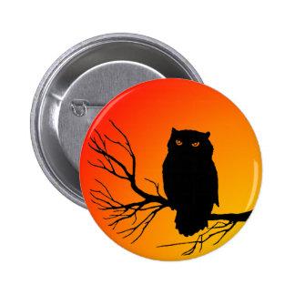 Spooky Owl 6 Cm Round Badge