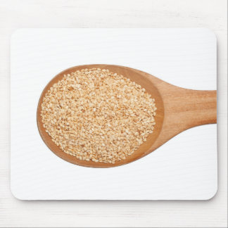 Spoonful of toasted sesame seeds mouse pad