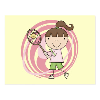 Sports Girl Tennis Tshirts and Gifts Postcard