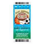 Sports Theme Party Baby Shower 10 Cm X 24 Cm Invitation Card