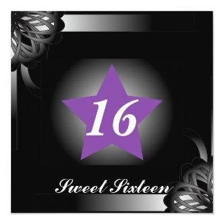 Spot Light Star Sweet Sixteen  -Customize 13 Cm X 13 Cm Square Invitation Card