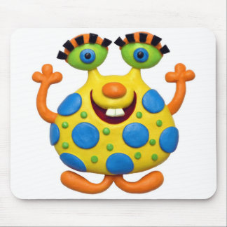 Spotted Yellow Monster Mouse Pad