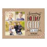 Spreading Cheer Holiday Photo Card 13 Cm X 18 Cm Invitation Card