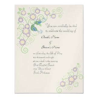 Spring Love Birds 11 Cm X 14 Cm Invitation Card