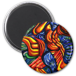 """""""Spring of the air"""" abstract designer 6 Cm Round Magnet"""
