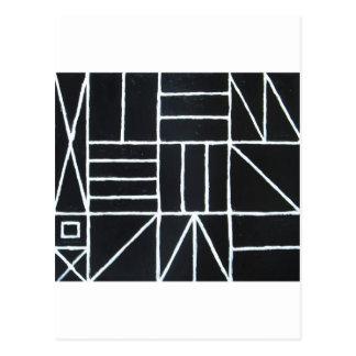 Square Dance ( line minimalism ) Postcard